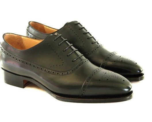 FSW008 – Black Half brogue Balmoral Oxford