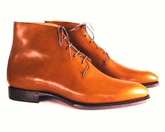 FSW025 – Cognac Wholecut Derby Boots