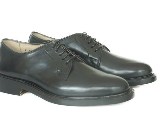 FSW035 – Black Waxy Calf Plain Toe Blucher